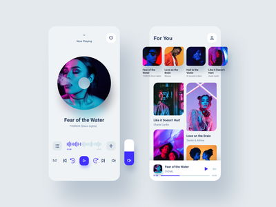 Music Player UI KIT mobile app mobile app ui kit music player music app ui concept ui ux dribbble shot