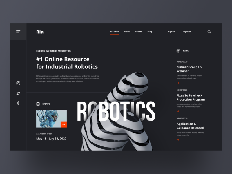 ROBOTICS REDESIGN redesign uidesign website design web design hero image website webdesign online ecommerce ui ux ui concept dribbble shot