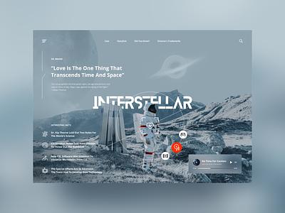 INTERSTELLAR website ux figma space interstellar website design web design webdesign web ui  ux uidesign ui design uiux ui design concept ui ux dribbble shot