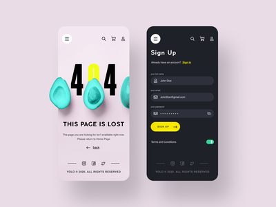 YOLO SHOP (FOR SALE) desktop webdesign website uikit mobile ui kit figma sale ui8net ui8 mobile ui mobile app design shop ecommerce mobile ui mobile app ui ux dribbble app shot