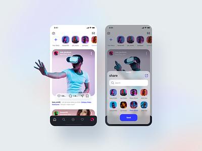 SOCIAL MEDIA UI KIT ui8net ui kit design uikit app design mobile design ui design uiux mobile app design mobile ui mobile concept ui ux app ui mobile app