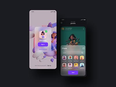 Social UI KIT ui  ux uiux ui8net ui kits application ui kit mobile design app design mobile ui mobile app design mobile ui mobile app app shot