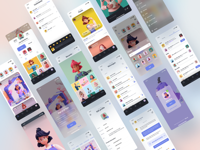 Social Media UI KIT social network socialmedia facebook instagram ui8 uikit ui kit uiux dribbble design mobile ui mobile app design mobile illustration ui mobile app ui ux app