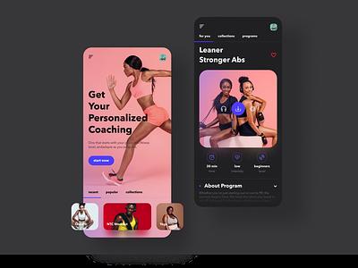 Personal Training App concept ui app mobile app ecommerce dribbble shot