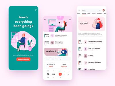 Women Planner branding ui illustration shop concept mobile app ui ux app dribbble shot