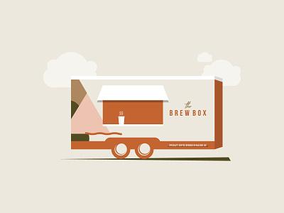 Coffee Truck Illustration food truck coffee shop coffee truck coffee cup coffee sticker illustration illustrator design