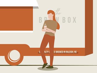 Enjoying some coffee sticker design vector truck food truck coffee shop illustration coffee truck coffee illustrator