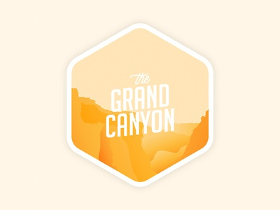 Grand Canyon Sticker gradients icon vector illustrator design sticker illustration grand canyon national parks
