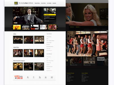 Afterbuzz movies media ui design web website creative bt branding