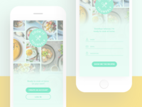 recipe app | sign up page