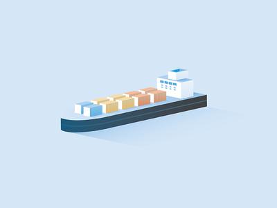 Barge Illustration