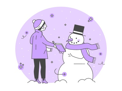 Snow Day ❄️ 💜 📖 snow globe hat scarf purple reading book books snowman snow man snow day snow teacher