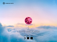 Invitation for one player