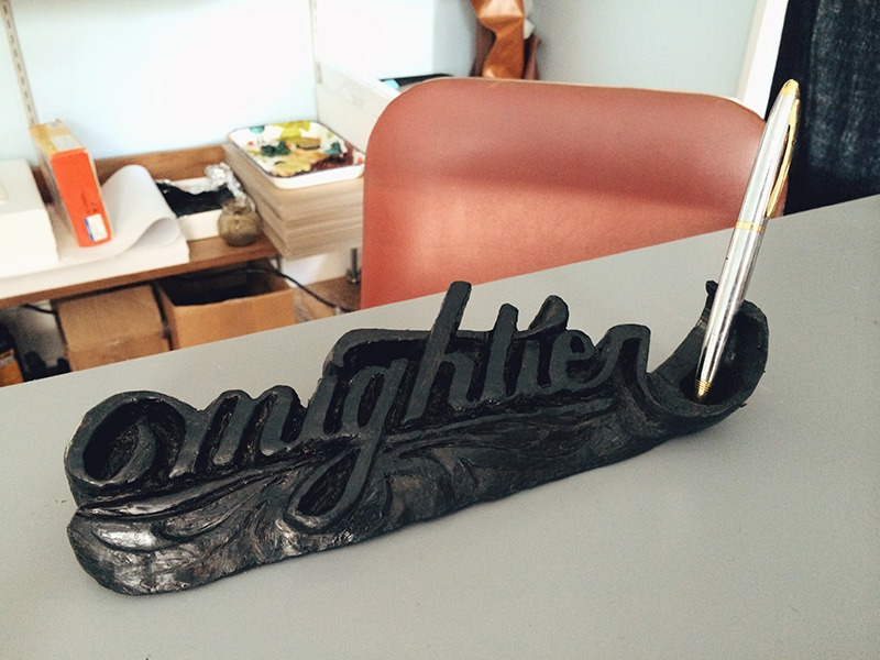 The pen is mightier. sculpture typography lettering hand-lettering 3d