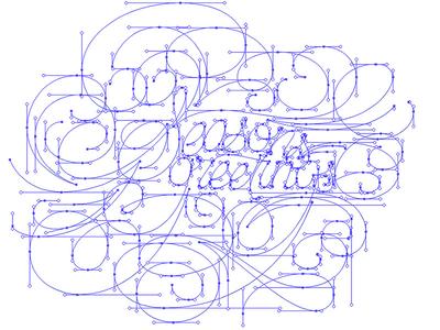 bezier orientation bezier lettering vector seasons greetings