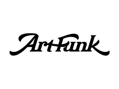 Art Funk logo lettering vector lettering logo