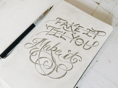 Make It xprocrastinationcontest lettering