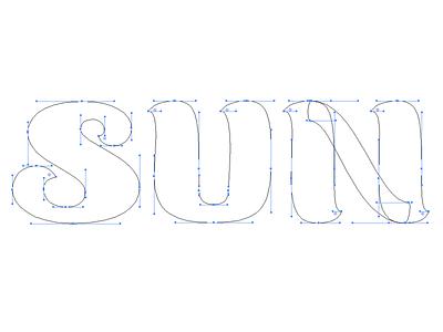 Sun identity branding logo bezier vector lettering