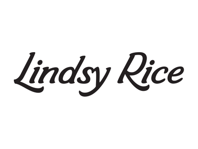 Lindsy Rice vector lettering logo lettering