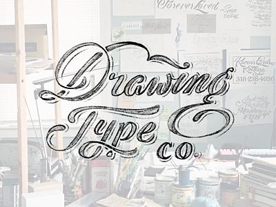 Drawingtype.co portfolio website typography lettering logo wordmark custom type