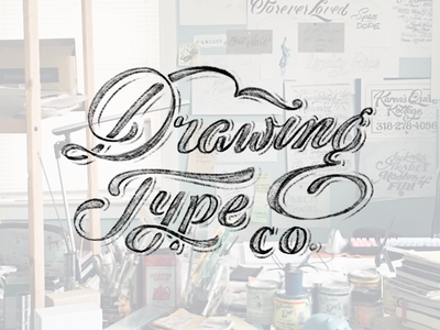 Drawingtype.co portfolio website typography lettering logo wordmark custom type