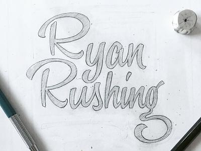 Personal Branding brush lettering brush script portfolio website typography lettering logo wordmark custom type