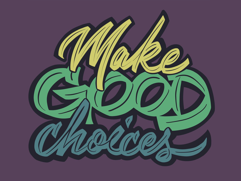Make good choices procreate lettering script handlettering