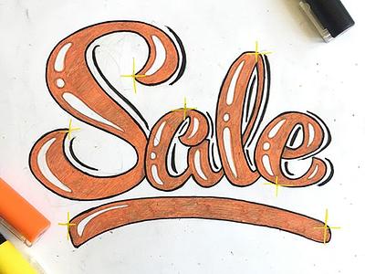 Sale signpainting lettering paint pen