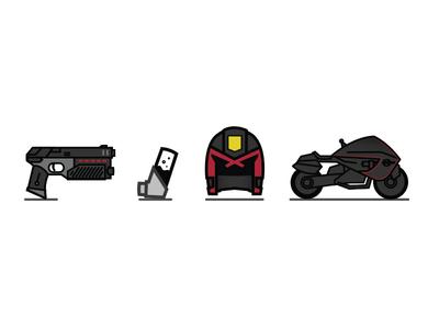 DREDD icons