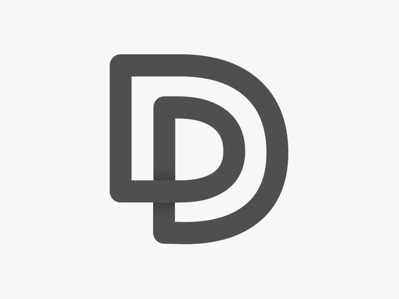 Pan Deters // 2017 p d outline mono line simple mark logo