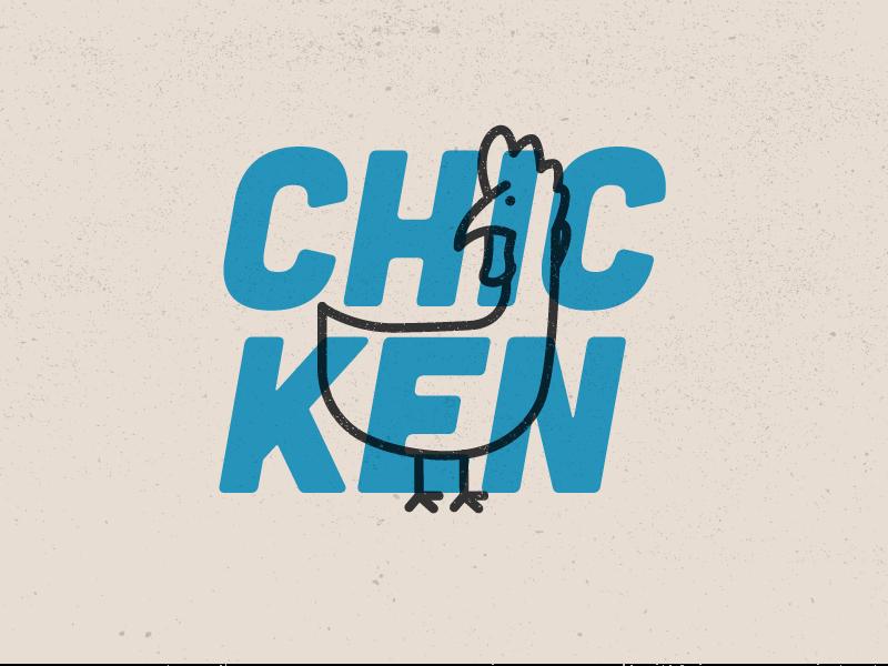 Chicken type blue illustraion line chicken