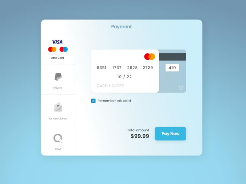 DailyUI #002 Checkout checkout card payment dailyui