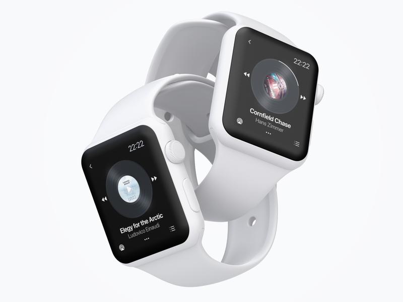 DailyUI #009 Music Player watch app design dailyui ui music music player wearable smartwatch