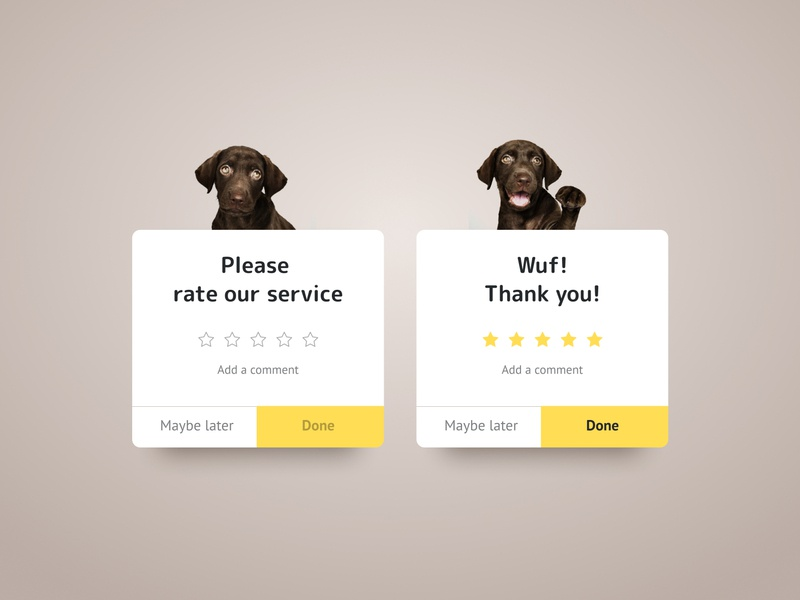 DailyUI #016 Pop Up rate popup web design ui dailyui
