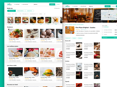 Food delivery- search result and details pages delivery food details restaurant search result