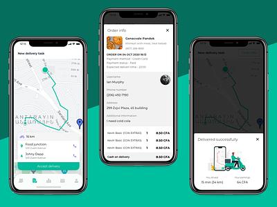 Delivery Men order app design