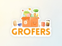 Laptop stickers for Grofers