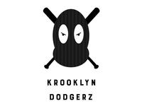 krooklyn dodgerz logo design