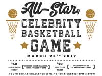 All Star Celeb Basketball Game Flyer