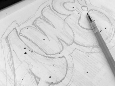 awe_wip pencil practice sketching letters lettering awe