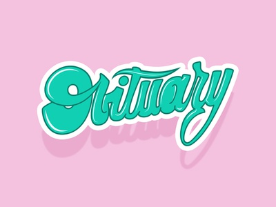 Obituary obituary practice tombow lettering type metal