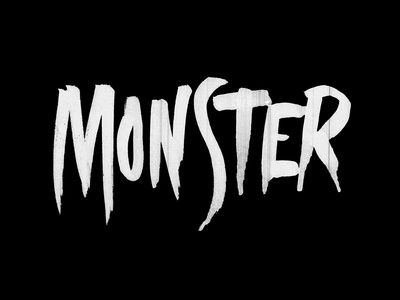 Monster wip practice tombow lettering