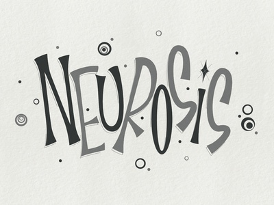 Neurosis logo practice design letter typography letters type lettering