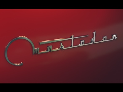 Mastodon cinema4d practice logo letter design typography letters type lettering