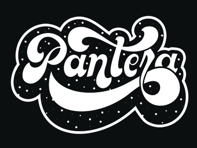 Pantera logo typography practice handwritten design letters type lettering