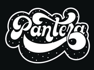 Pantera logo typography practice handwritten design letters type lettering