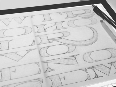 WolvesInTheThroneRoom pencil sketch design typography letters letter practice type lettering