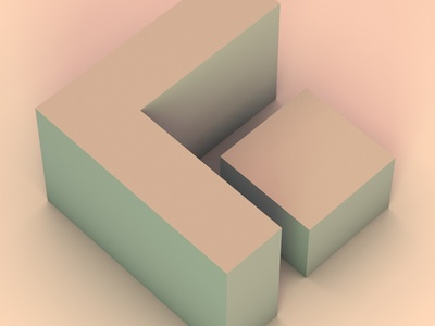 36daysoftype - G geometrical cinema4d practice design typography letter letters type lettering