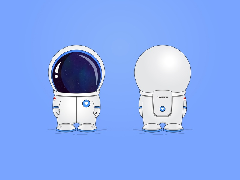 mascot for campaign.com campaign.com ui vector indonesia love world astronaut nasa startups forchange campaign design illustration character art mascot