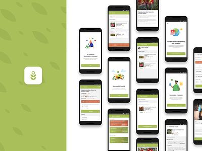 Planting Tutorial And Advice App app app design ui vector illustration ux logo appdesign uidesigner design
